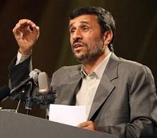 El observador iraní MAHMUD AHMADINEYAH