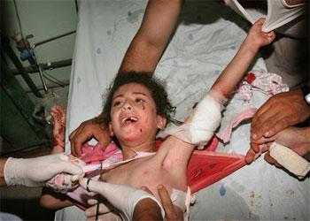 CINISMO Gaza_ataque_nic3b1os